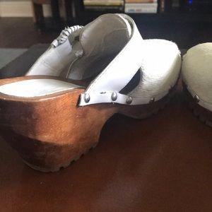Vintage Shoes - Vintage Calfskin Clogs